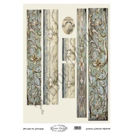 Ριζόχαρτο Artistic Design για Decoupage 30x40cm, Λαμπάδα floral / MR945