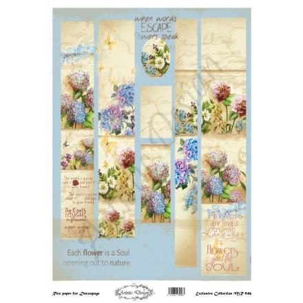 Ριζόχαρτο Artistic Design για Decoupage 30x40cm, Λαμπάδα vintage floral / MR949