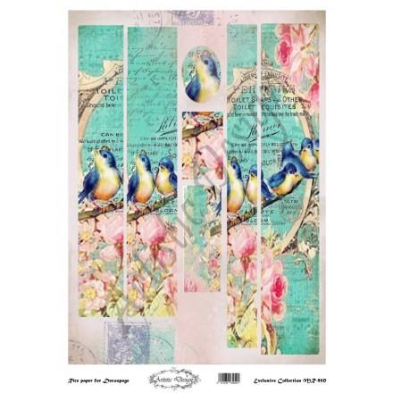 Ριζόχαρτο Artistic Design για Decoupage 30x40cm, Λαμπάδα birds / MR950