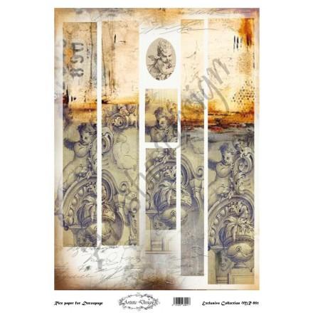 Ριζόχαρτο Artistic Design για Decoupage 30x40cm, Λαμπάδα angel / MR951