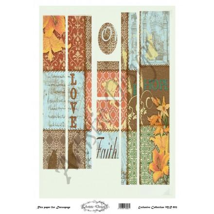 Ριζόχαρτο Artistic Design για Decoupage 30x40cm, Λαμπάδα patterns / MR953