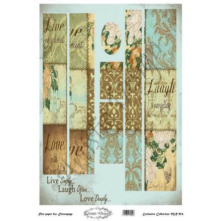 Ριζόχαρτο Artistic Design για Decoupage 30x40cm, Λαμπάδα patterns / MR954