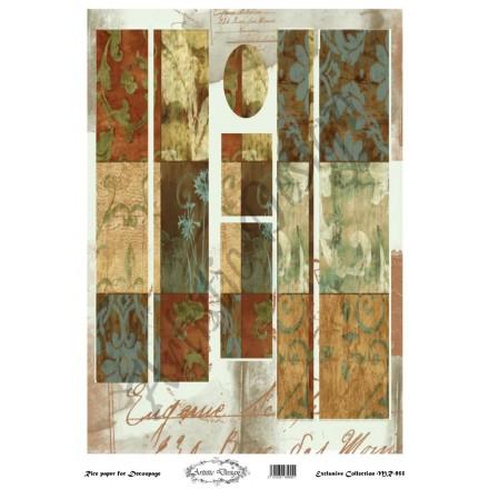 Ριζόχαρτο Artistic Design για Decoupage 30x40cm, Λαμπάδα patterns / MR955