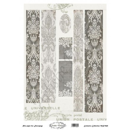 Ριζόχαρτο Artistic Design για Decoupage 30x40cm, Λαμπάδα ornament / MR960