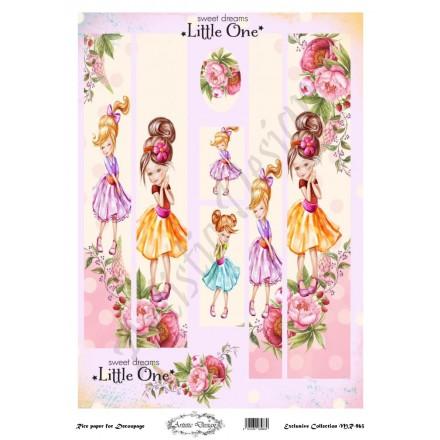 Ριζόχαρτο Artistic Design για Decoupage 30x40cm, Λαμπάδα little girl and flower / MR963