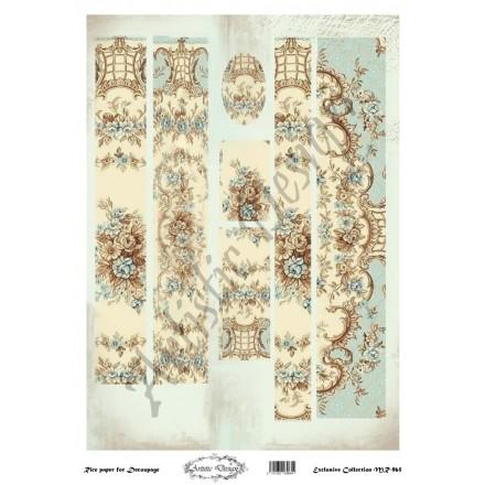 Ριζόχαρτο Artistic Design για Decoupage 30x40cm, Λαμπάδα vintage rug / MR965