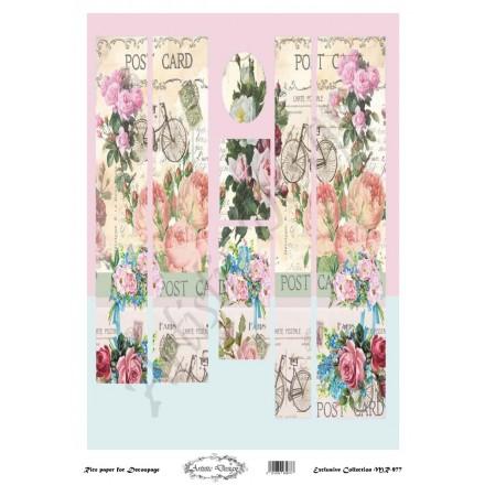 Ριζόχαρτο Artistic Design για Decoupage 30x40cm, Λαμπάδα Post card / MR977