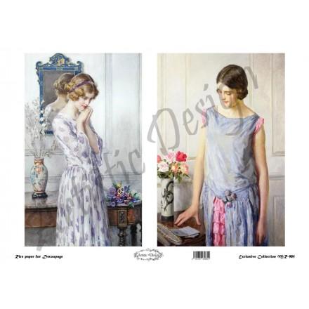 Ριζόχαρτο Artistic Design για Decoupage 30x40cm, Vintage Ladies / MR985