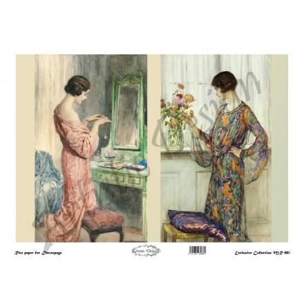 Ριζόχαρτο Artistic Design για Decoupage 30x40cm,Vintage Ladies / MR986