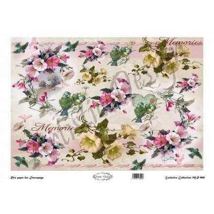 Ριζόχαρτο Artistic Design για Decoupage 30x40cm,Flower Background morningglory / MR990