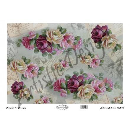 Ριζόχαρτο Artistic Design για Decoupage 30x40cm, Roses / MR993