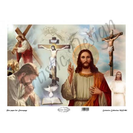Ριζόχαρτο Artistic Design για Decoupage 30x40cm, Εικόνα Jesus (Χριστός) / MR995