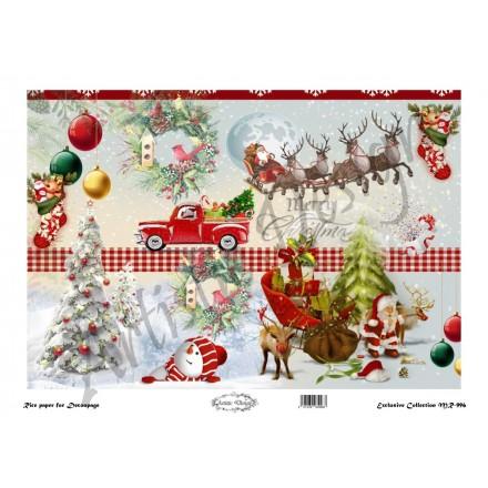 Χριστουγεννιάτικο Ριζόχαρτο Artistic Design για Decoupage 30x40cm, Christmas / MR996