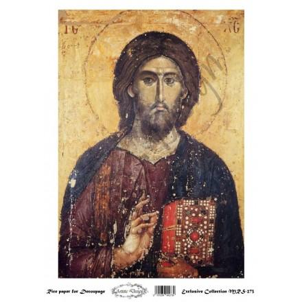 """Ριζόχαρτο Artistic Design για Decoupage Α4, Εικόνα """"Χριστός"""" / MRS273"""