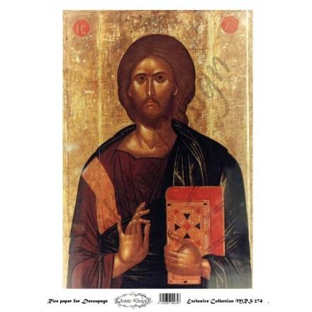 """Ριζόχαρτο Artistic Design για Decoupage Α4, Εικόνα """"Χριστός"""" / MRS274"""