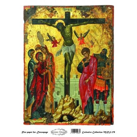 """Ριζόχαρτο Artistic Design για Decoupage Α4, Εικόνα """"Χριστός (Σταύρωση)"""" / MRS278"""