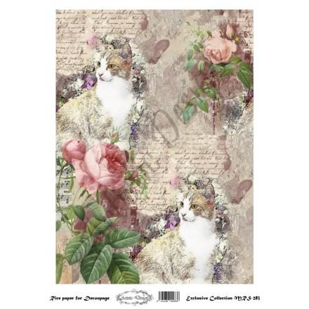 Ριζόχαρτο Aristic Design για Decoupage A4, cats / MRS283