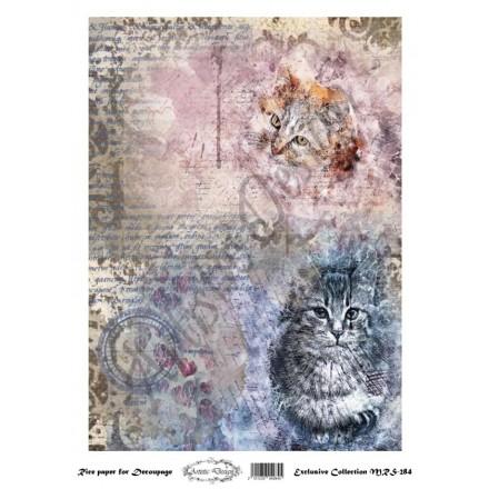 Ριζόχαρτο Aristic Design για Decoupage A4, cats / MRS284