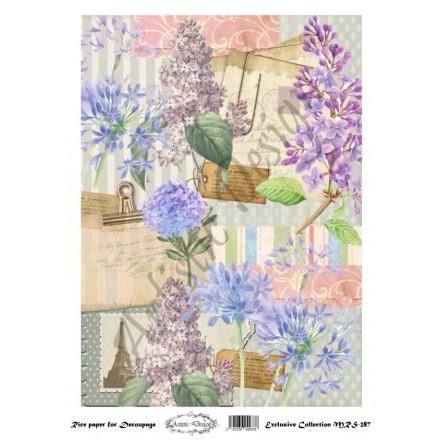 Ριζόχαρτο Aristic Design για Decoupage A4, flowers / MRS287