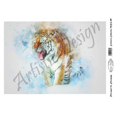 Ριζόχαρτο Aristic Design για Decoupage A4, tiger / MRS289