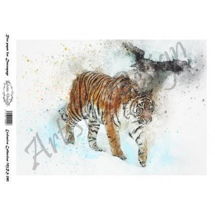 Ριζόχαρτο Aristic Design για Decoupage A4, tiger / MRS290