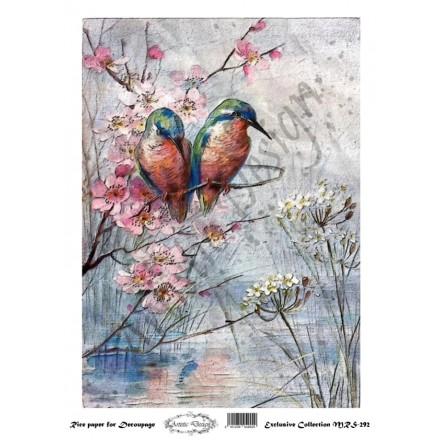 Ριζόχαρτο Aristic Design για Decoupage A4, birds / MRS292