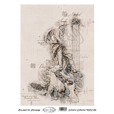 Ριζόχαρτο Artistic Design για Decoupage A4, statues / MRS306