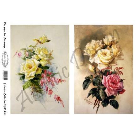 Ριζόχαρτο Artistic Design για Decoupage A4, French Flowers / MRS312