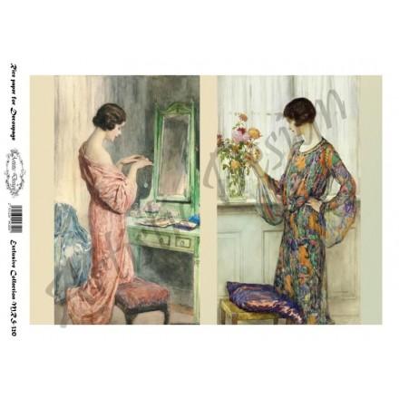 Ριζόχαρτο Artistic Design για Decoupage A4, Vintage Ladies / MRS320