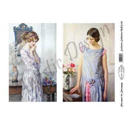Ριζόχαρτο Artistic Design για Decoupage A4, Vintage Ladies / MRS321
