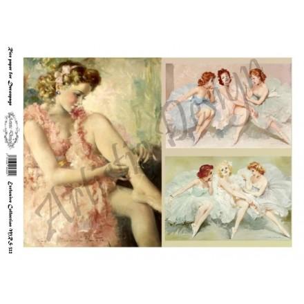 Ριζόχαρτο Artistic Design για Decoupage A4, Vintage Ladies / MRS322