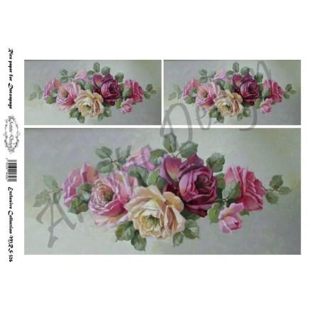 Ριζόχαρτο Artistic Design για Decoupage A4, Roses / MRS326