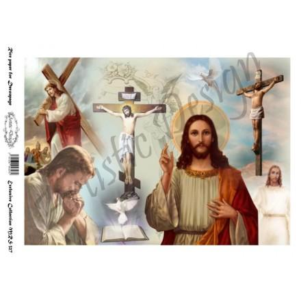 Ριζόχαρτο Artistic Design για Decoupage A4, Εικόνα Jesus (Χριστός) / MRS327