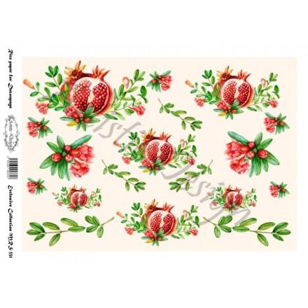 Ριζόχαρτο Artistic Design για Decoupage Α4, Christmas Ρόδια / MRS331