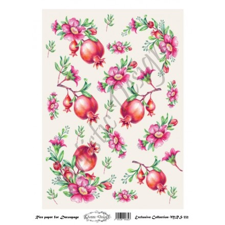 Ριζόχαρτο Artistic Design για Decoupage Α4, Christmas Ρόδια / MRS332