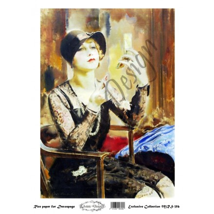 Ριζόχαρτο Artistic Design για Decoupage A4, Vintage Lady / MRS356