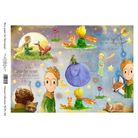Ριζόχαρτο NCF για Decoupage A4, little prince / NCFS185