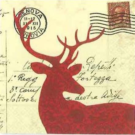 Χαρτοπετσέτα για Decoupage, Winter Cart Postal / NV-74059