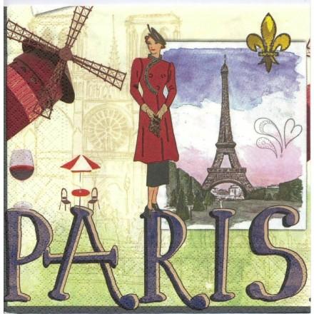 Χαρτοπετσέτα για Decoupage, Paris / NV-74451