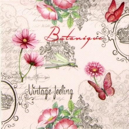 Χαρτοπετσέτα για Decoupage, Vintage Feeling / NV-74543