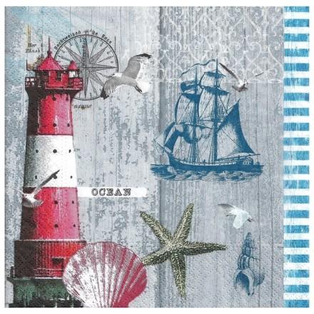 Χαρτοπετσέτα για Decoupage, Ocean / NV-74599