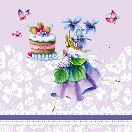 Χαρτοπετσέτα για Decoupage, Purple Dreams / NV-75139