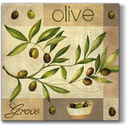 Χαρτοπετσέτα για Decoupage, Olive Garden / SDL004600