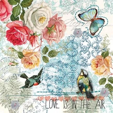 Χαρτοπετσέτα για Decoupage, Love is in the Air / SDL084400