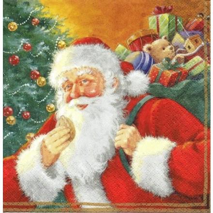 Χριστουγιεννιάτικη Χαρτοπετσέτα για Decoupage, Santa Claus / SDL043000