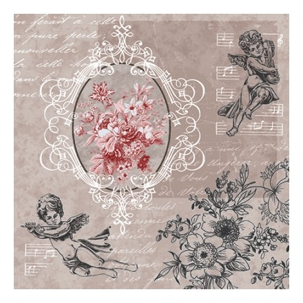 Χαρτοπετσέτα για Decoupage, Angels among Flowers / SDL-089400