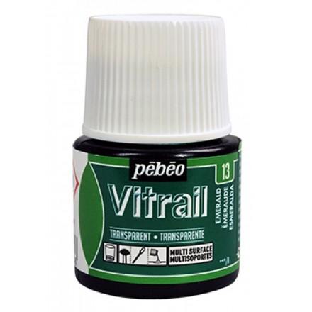 Pebeo Vitrail Trasparent Colour (Διάφανo σμάλτo διαλύτη) 45ml, Emerald