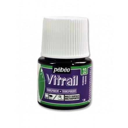 Pebeo Vitrail Trasparent Colour (Διάφανo σμάλτo διαλύτη) 45ml, Parma