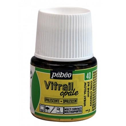 Pebeo Vitrail Opaque Colour (Ημιδιαφανές σμάλτo διαλύτη) 45ml), Wheat Yellow