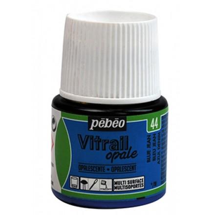 Pebeo Vitrail Opaque Colour (Ημιδιαφανές σμάλτo διαλύτη) 45ml), Blue Jeans